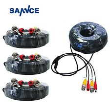 SANNCE 4x 60ft 18m Video Power Cable BNC Plug Wire for Security Camera System