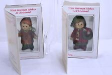 Bradford Deck the Halls + Jingle Bells 1985 Vintage Novelty Christmas ornament