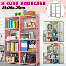 8 Cube Modern Book Shelves Storage Shelf Bookcase Display Unit Stand Organizer