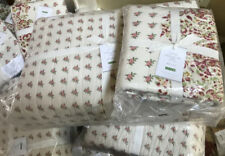 Pottery Barn Liviah Quilt Ivory Queen 2 Standard Shams Floral Paisley New