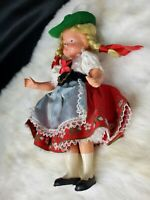 Vintage Celluloid Child Doll in costume