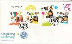 2010 100 Years of Girl Guiding FDC Typed  Address Excellent Condition