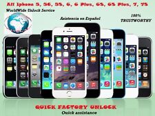 All Iphone 5, 5C, 5S, 6, 6 Plus, 6S, 6S Plus, 7, 7S, Factory Unlocked for AT&T