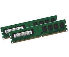 2x 2GB 4GB ECC Unbuffered RAM Arbeitsspeicher DDR2 800 Mhz UDIMM PC2-6400E 240p