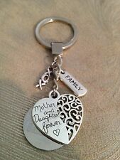 Engraved Personalised Mother and Daughter Forever Key Ring