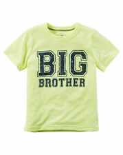 "NEW! ""BIG BROTHER"" Boys Carters Graphic Shirt 2T Gift! Announcement SS Cool!"
