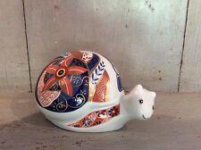 Oriental Japanese Ornament Imari Style Snail Marked Piacentini On base -