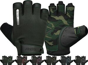 RDX Weight Lifting Full Finger Gym Gloves Long Strap Wrist Support Fitness Worko