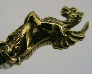 ENGLISH STERLING SILVER GILT RED DRAGON OF WALES SPOON QUEENS BEASTS 1973