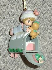 1992 Mailbox Girl and Kitten Christmas Ornament Precious Moments