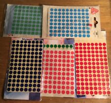 Avery Labels 520 x 8mm Coloured Dot Stickers Round Sticky Adhesive Circles - NEW