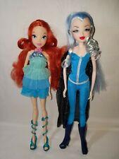 Jakks Pacific Winx Club Lot of 2 BLOOM & Enchantix ICY Dolls