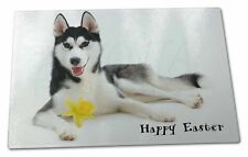 'Happy Easter' Black Husky Extra Large Toughened Glass Cutting, C, AD-H55DA1GCBL