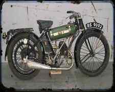 BSA B ROUND TANK 01 A4 métal signe Moto Vintage Aged