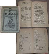 ALT-CREFELD Sammlung Alt-Crefelder Witze, Anekdoten, Volks- u. Jugendlieder 1912