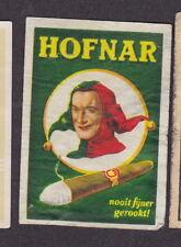 Ancienne  étiquette allumettes Hollande BN18119 Cigare   Homme Hofnar