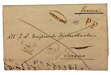Lombardo Veneto 1840/50 Morbegno PP Rosso Lettera Tirano