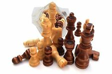Chess Wooden Parts - Set Of 32 ,Pieces King Size 7.5 Cm