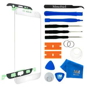 Front Glas für Samsung Galaxy S7 Edge G935 (WEISS) Display Reparatur + Werkzeug