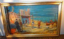 Pere Créixams El puerto de Masnou peinture tableau noucentisme catalan