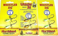 Northland Tackle 1/4 Whistler Spinner Jigs (Lot of 3-Glo Perch/Gold perch)