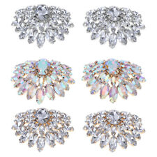 2x Crystal Shoe Charm Bridal Shoes Clip Women Wedding Boots Buckle, One Size