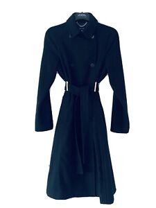 Karen Millen Genuine Black Wool Coat | Size 12 | New Rrp.£250