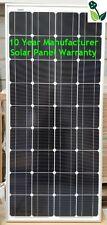 100W Solar Panel Monocrystalline 10 Year Warranty Ideal for Off-Grid Systems NEW