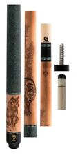 """McDermott G338 Cue - 12.5mm G-Core - Wildfire 3D """"Wolves"""" - FREE 1x1 Hard Case"""