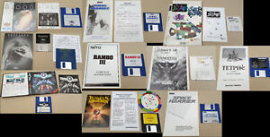 LOT of (10) Games for Commodore Amiga with Manuals Disks