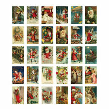 Lot of 30 Vintage Repro 1910's Christmas Postcard Santa Greeting Card Antique