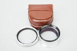 Rollei Heidosmat - Rolleinar 3 R II Close Up Lens w/ Leather Case, Rolleiflex