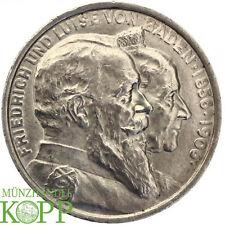 Z777) j.35 Baden 5 mark 1906-Friedrich 1856-1907 - bodas de oro