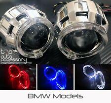 Angel Halo Eye Projector Lens Built-In LED HID Headlights Lights Bulbs for BMW