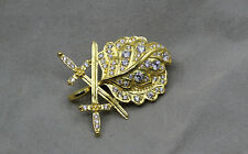 WW2 German Gold Oak Leaf with Swords and Diamonds to the Knights Cross
