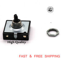 Turn Switch 3 Speed 4 Position Fan Selector rotary switch With Nut 10A 250V