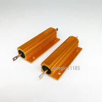 US Stock 2x 1.5 ohm 1.5 100W Watt Aluminum Housed Metal Case Wirewound Resistors