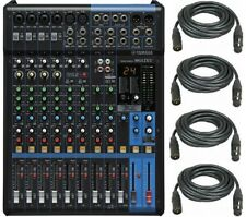 Yamaha MG12XU 12-Input Mixer with Built-In FX and 2-In/2-Out + 4 XLR Cables