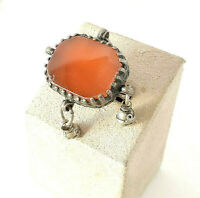 Antique Silver Ancient Carnelian Ring size 7 Yemen tribal jewelry