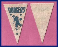 OLD 1950's Brooklyn Dodgers Baseball Pennant!  WOW!
