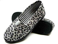 NEW Women Leopard Slip on Flats, Comfortable Stylish Simple Shoes SlipOns