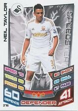 N°276 NEIL TAYLOR # WALES SWANSEA CITY.FC TRADING CARD MATCH ATTAX TOPPS 2013