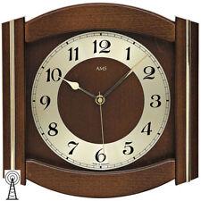 AMS Radio Orologio da parete legno massiccio color noce laccato
