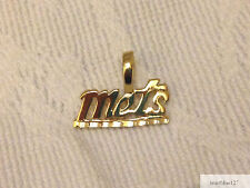 NEW YORK NY METS Team Name Necklace Pendant 24k Gold Plated Charm Fan Jewelry
