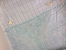 RALPH LAUREN Paisley 3PC KING DUVET COVER SET Light Aqua Blue Cotton new