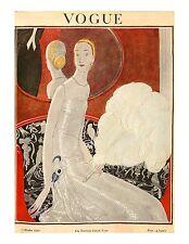 Vogue Paris Magazine, Reprint Oct 1922, V 4.15 Art Deco Fashion Drawings, 1920's