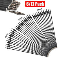 US 28/30/32 Inch Carbon Arrows OD 7.8mm Archery For Compound/Recurve Bow Hunting