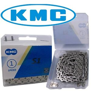 KMC Silver 1/8 Bike Chain S1 BMX Fixed Gear Singlespeed Cruiser Bicycle fit Z410