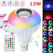 12W B22 Lamp Smart LED Light Bulb Bluetooth RGB Colour Music Speaker with R wl*