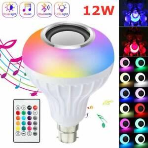 12W E27 Lamp Smart LED Light Bulb Bluetooth RGB Colour Music Speaker 2020